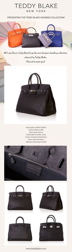 High End Designer Handbags by Teddy Blake! Made In Italy in the same  manufacture than 7d96ed548358a