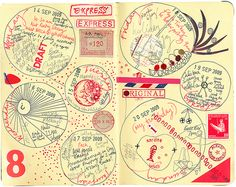 Inspiration - original pinner sez: my diary pages