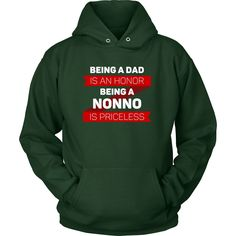 Being a Dad is an honor Being a Nonno is priceless Grandpa Family T-shirt