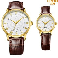 >> Click to Buy << Luxury Brand Eyki Men Quartz Wrist Watch Couple Lovers Roman Scale Ship Leather Strap Waterproof Watch Male Female Watches #Affiliate