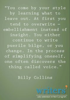Billy Collins #The Artist's Way
