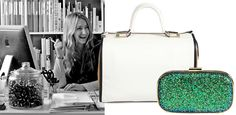 Accessories designer Anya Hindmarch on SaksPOV  Green... emerald and stones.