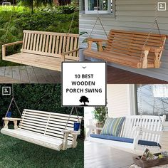 Wooden Porch Swing Swing Seat, Porch Swing, Outdoor Furniture, Outdoor Decor, Traditional, Home Decor, Decoration Home, Room Decor, Interior Design