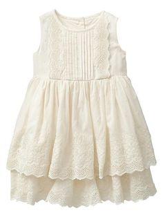 Gap   Tiered eyelet dress