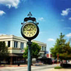 Clock in Downtown Temple TX.