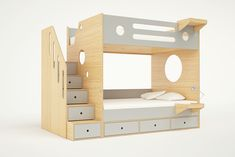 Deciding to Buy a Loft Space Bed (Bunk Beds). – Bunk Beds for Kids Bunk Beds With Stairs, Twin Bunk Beds, Kids Bunk Beds, Bed Stairs, Casa Kids, Stair Plan, Elevated Bed, Teen Bedding, Bedding Sets