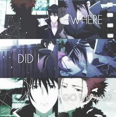 Mikoto and Munakata (Red and Blue Kings). K Project