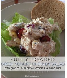 Summertime is upon us! Here's the perfect low-fat, low-cal Greek yogurt chicken salad recipe loaded with deliciousness! | Blair Blogs