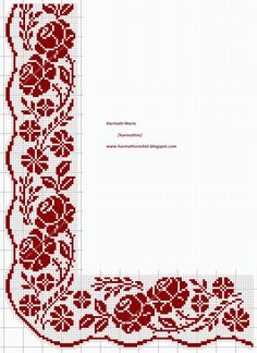 123 Cross Stitch, Cross Stitch Bookmarks, Cross Stitch Borders, Cross Stitch Flowers, Cross Stitch Designs, Cross Stitching, Cross Stitch Patterns, Floral Embroidery Patterns, Hand Embroidery