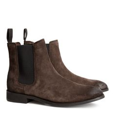 Suede Chelsea Boots | H&M US - Brown $99