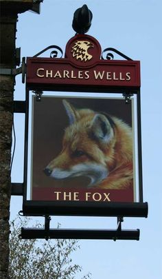 The Fox Brewery & Pub ~ located Farthinghoe, Northamptonshire, England Uk Pub, British Pub, Pub Signs, Fox Art, Store Signs, Advertising Signs, Great Britain, Thing 1, Signage