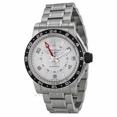Longines Admiral GMT Silver Dial Stainless Steel Mens Watch L36684766