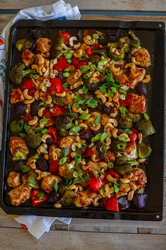 Asiatisk kyckling med cashewnötter i långpanna - ZEINAS KITCHEN Love Food, A Food, Food And Drink, Zeina, Meat Chickens, Kung Pao Chicken, Lchf, Chicken Recipes, Low Carb