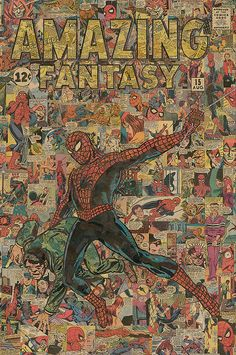 Limited Edition Spider-Man 24x36 Comic Collage Giclee Print by ComicReliefOriginals, $150.00