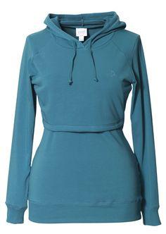 7487eab174d0c Boob Warmer Nursing Hoodie turkish blue - Stockholm Objects- this website  has cute nursing tops