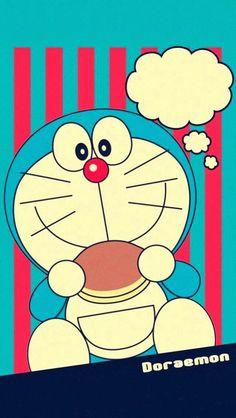 少しレトロなドラえもん iPhone壁紙 Wallpaper Backgrounds iPhone6/6S and Plus  Retro Doraemon