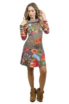 Savage Culture:  Luela Color Block Bouquet Dress, $108.00. The Chicest color block and flower design we've ever seen! Only on WC!