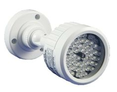 Infrared Red Illuminator with 60 pcs of Strong Powered IR LED for Security Cameras Night Vision. Merit Li-lin Prh-5218. IP 67 High Efficiency Infrared LED, 40 Meter Radiant Distance by GW Security Inc. $59.00. From the Manufacturer                BNC Male to Male Coupler Adapter                                    Product Description                No AC/DC Power Adapter included. Camera Specifications: ModelGWIR40 LED60 PCS LED SIZE5/12 u POWER12VDC(+/-10%)/400mA...