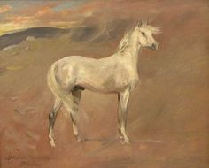 """""""Arabian Horse"""", 1931, oil on cardboard, 40.5 x 50 cm, private collection"""