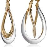 Gold Two-Tone Double Crossover Hoop Earrings Diameter) ** Check this awesome product by going to the link at the image. Gold Earrings, Gold Jewelry, Jewellery, Fashion Earrings, Fashion Jewelry, Crossover Ring, Diamond Pendant, Earring Set, Jewels