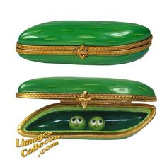 Two Peas In a Pod Limoges Box by Beauchamp | LimogesCollector.com, Limoges gifts for new baby, best friend, and all occasions gifts
