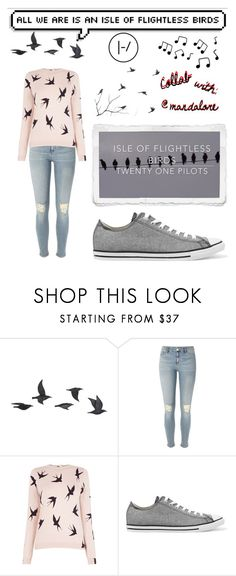 """Isle of flightless birds: Twenty Øne Piløts"" by ember-lily-287 ❤ liked on Polyvore featuring Jayson Home, ESPRIT, River Island, Oasis, Converse and Nature Home Decor"