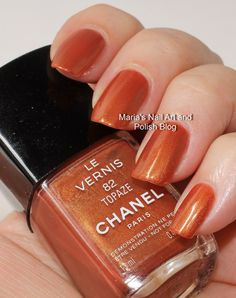 Chanel Topaze 82 swatches - vintage