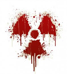 Radioactive symbol blood splatter  Photographer	  domencolja