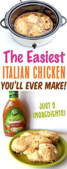} – The Frugal Girls Crockpot Italian Chicken Easy Recipes! This delicious slow cooker dinner with Italian dressing is the easiest supper you'll make all week! Italian Chicken Recipes, Easy Chicken Recipes, Easy Recipes, Italian Crockpot Recipes, Recipes Dinner, Easy Healthy Crockpot Recipes, Seafood Recipes, Slow Cooker Huhn, Easy Crockpot Chicken