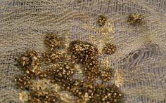 gold embroidery - textiles DMA degree collection eva.bellanger.portfoliobox.fr