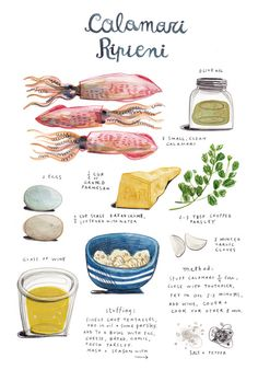 Watercolour Poster http://www.designsponge.com/2014/01/in-the-kitchen-with-healthy-eating.html