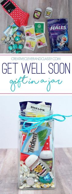 With flu season here, create this easy get well soon gift in a jar for a friend in need of some TLC!