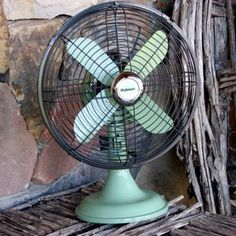Spray painted fan. I like the two-toned look!