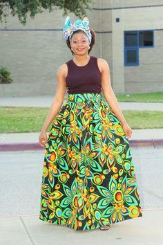 Alero Adensecret Maxi Ankara Skirt  #africanfashiondesigners #fashiondiaries #chic #fashionaddicts #blackgirlskillingit #photooftheday #mua #africanprints #picoftheday #bloggertrends