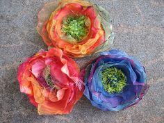 Chiffon flower tutorial