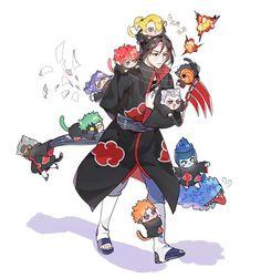 Itachi Akatsuki shared by Br.pdrz on We Heart It Anime Chibi, Anime Naruto, Naruto Comic, Naruto Akatsuki Funny, Itachi Akatsuki, Naruto Meme, Otaku Anime, Konoha Naruto, Manga Anime