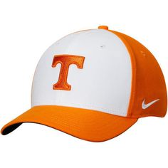 4cedc9d518a09 Men s Nike White Tennessee Orange Tennessee Volunteers Classic 99 Swoosh Performance  Flex Hat