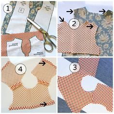 Doll Dressmaking Series: A Simple Trick — Phoebe&Egg Sewing Doll Clothes, American Doll Clothes, Baby Doll Clothes, Sewing Dolls, Barbie Clothes, Barbie Sewing Patterns, Baby Clothes Patterns, Doll Dress Patterns, Shirt Patterns