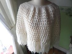 Your place to buy and sell all things handmade Hand Crochet, Crochet Top, Ladies Poncho, Flower Spray, Shawls And Wraps, Pale Pink, Vintage Items, Scarves, My Etsy Shop