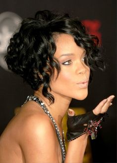 curly hair bob stacked - Google Search