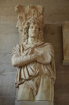 """Colossal statue of a Phrygian captive used as piers in the """"Captive Facade"""" of the North Basilica, 2nd half of 2nd century AD, Archaeological Museum of Ancient Corinth, Greece   da Following Hadrian"""