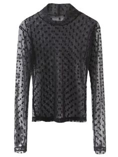 SHARE & Get it FREE | Sheer Mock Neck Dots Embellished Mesh Blouse - BlackFor Fashion Lovers only:80,000+ Items • New Arrivals Daily Join Zaful: Get YOUR $50 NOW!