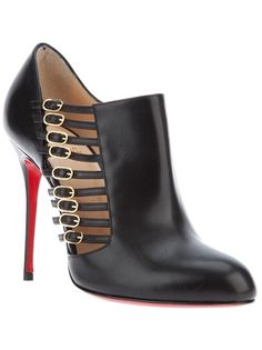 CHRISTIAN LOUBOUTIN - multi-buckle stiletto bootie