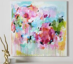 Floral Color Pop Canvas Wall Art #pbkids