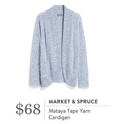 Market & Spruce Mataya Tape Yarn Cardigan. I love Stitch Fix! A personalized styling service and it's amazing!! Simply fill out a style profile with sizing and preferences. Then your very own stylist selects 5 pieces to send to you to try out at home. Keep what you love and return what you don't. Only a $20 fee which is also applied to anything you keep. Plus, if you keep all 5 pieces you get 25% off! Free shipping both ways. Schedule your first fix using the link below! #stitchfix…
