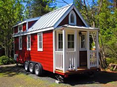 Try out tiny house living in Oregons new micro-home resort in Mt. Hood Tiny House On Wheels Hood House living microhome Oregons resort Tiny Tiny House Company, Tiny House Blog, Tiny House Living, Tiny Houses For Rent, Tiny House On Wheels, Little Houses, Small Houses, Building Design, Building A House