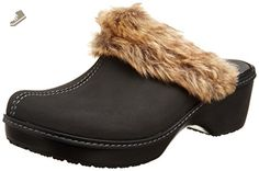 crocs Women's 16288 Cobbler Fuzz Clog Flat,Black/Black,7 M US - Crocs mules and clogs for women (*Amazon Partner-Link)
