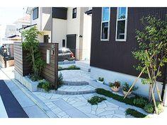 タイル、レンガ、自然石、階段、花壇