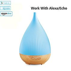 Coolqiya Essential Oil Smart Diffuser Aroma Mist Humidifier With 7 Colors Light Changing, Work With Alexa - Palm Tree Fitness Aromatherapy Diffuser, Essential Oil Diffuser, Essential Oils, Alexa Echo, Measuring Cup, Humidifier, Light Colors, Mists, Cool Things To Buy