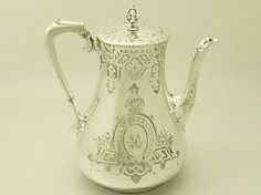 Sterling Silver Coffee Pot - Antique Victorian